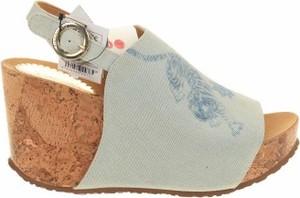 Sandały Desigual w stylu casual z klamrami ze skóry