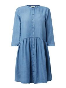 Niebieska sukienka Tom Tailor Denim z kołnierzykiem z tkaniny w stylu casual