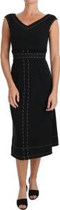 Sukienka Dolce & Gabbana z wełny