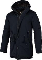 Granatowa kurtka Pit Bull West Coast w stylu casual z bawełny