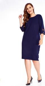 Sukienka Ptakmoda.com w stylu casual dopasowana midi
