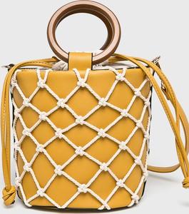 Żółta torebka Answear średnia