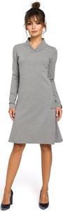 Sukienka Be z długim rękawem dopasowana midi