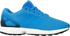 Niebieskie buty sportowe Adidas z płaską podeszwą sznurowane