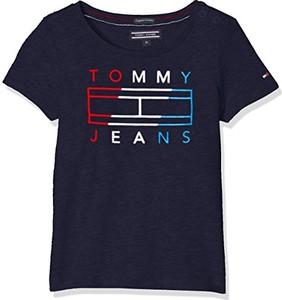 Granatowa koszulka dziecięca Tommy Hilfiger dla dziewczynek