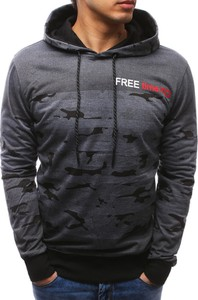 Dstreet bluza męska z kapturem antracytowa (bx3452)