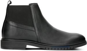 Czarne buty zimowe Tommy Hilfiger na zamek