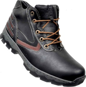 Czarne buty zimowe Brospa