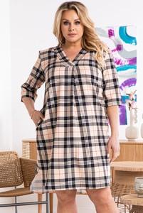 Sukienka KARKO dla puszystych w stylu casual
