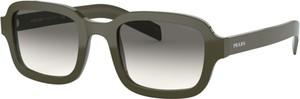 Zielone okulary damskie Prada