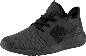 Czarne buty sportowe Kappa sznurowane w sportowym stylu