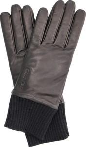 Brązowe rękawiczki Calvin Klein