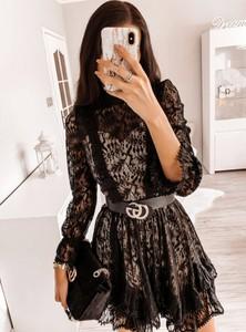 Sukienka Pakuten z długim rękawem mini rozkloszowana