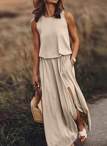 Sukienka Sandbella na ramiączkach maxi