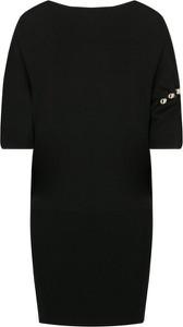 Czarna sukienka Liu-Jo z wełny w stylu casual mini