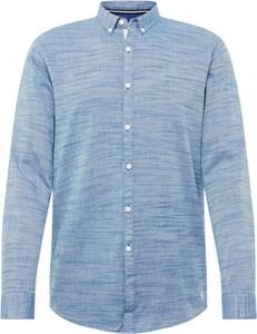 Niebieska koszula Tom Tailor Denim z długim rękawem z kołnierzykiem button down