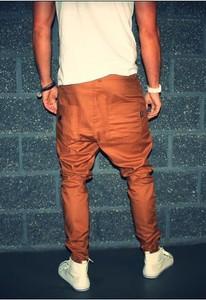 Brązowe spodnie Button
