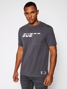 T-shirt Guess w młodzieżowym stylu z krótkim rękawem z bawełny