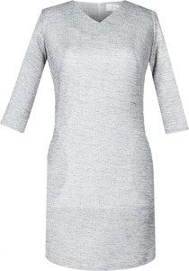 Sukienka Fokus z dekoltem w kształcie litery v z długim rękawem z bawełny