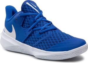 Niebieskie buty sportowe Nike w sportowym stylu z płaską podeszwą zoom