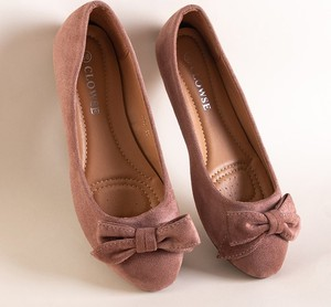 Różowe baleriny Royalfashion.pl z płaską podeszwą w stylu casual