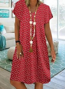 Czerwona sukienka Sandbella w stylu boho