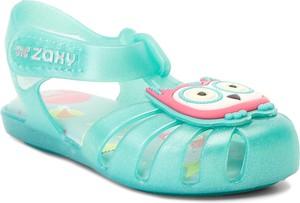 Turkusowe buty dziecięce letnie Zaxy na rzepy