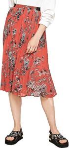 Czerwona spódnica Pepe Jeans midi w stylu casual