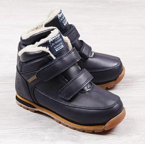 Buty dziecięce zimowe American Club na rzepy dla chłopców