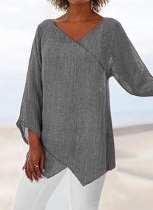 Bluzka Sandbella z długim rękawem z bawełny