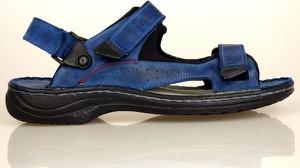 Buty letnie męskie Komodo w sportowym stylu na rzepy ze skóry