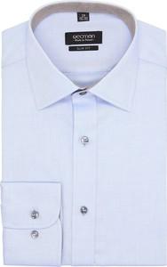 Błękitna koszula recman bez wzorów