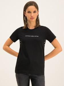 Czarny t-shirt Diesel z okrągłym dekoltem