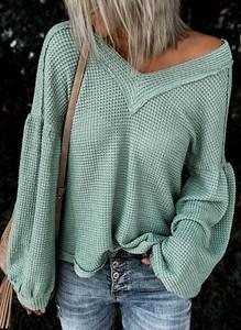 Zielona bluzka Sandbella z długim rękawem