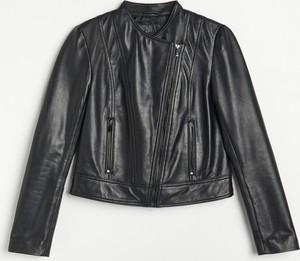 Czarna kurtka Reserved ze skóry