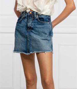 Niebieska spódnica Pepe Jeans z jeansu