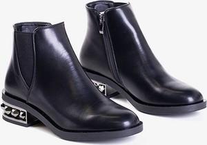 Czarne botki Royalfashion.pl w stylu casual