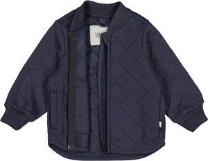 Niebieska kurtka Wheat krótka w stylu casual
