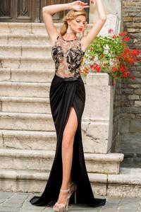 Elegrina sukienka maxi diva czarna