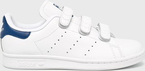 Trampki Adidas Originals stan smith z płaską podeszwą ze skóry