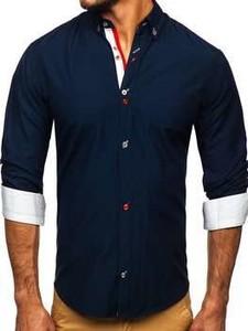 Granatowa koszula Denley z bawełny