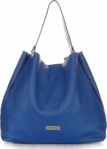 Niebieska torebka VITTORIA GOTTI ze skóry w wakacyjnym stylu