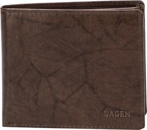 Brązowy portfel męski Lagen