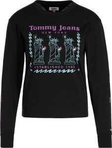 Bluzka Tommy Jeans w stylu casual z długim rękawem