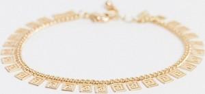 ASOS DESIGN – Bransoletka w kolorze złotym z kolumnowym wzorem