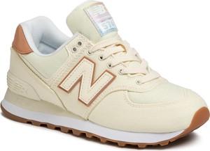 Buty sportowe New Balance sznurowane ze skóry ekologicznej