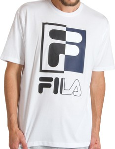 T-shirt Fila w sportowym stylu z krótkim rękawem z bawełny