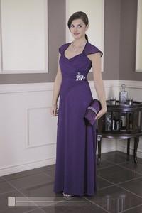 Sukienka Fokus z krótkim rękawem maxi z szyfonu