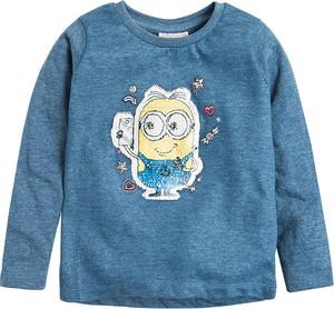 Niebieska bluzka dziecięca Cool Club z bawełny z długim rękawem