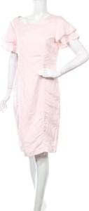 Sukienka Linea z okrągłym dekoltem prosta